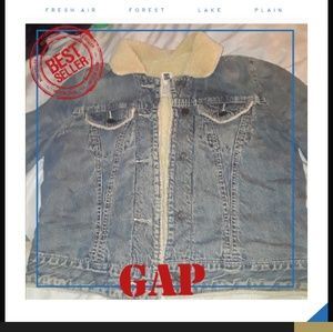 GAP Jean jacket with sherpa lining